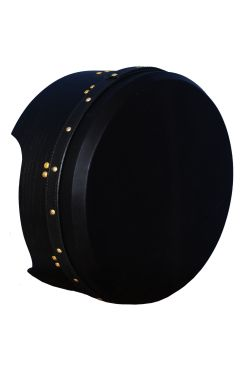 "14""x5"" Heartland Tunable Deep Rim Bodhran Mulberry Black T-Bar Black Skin"