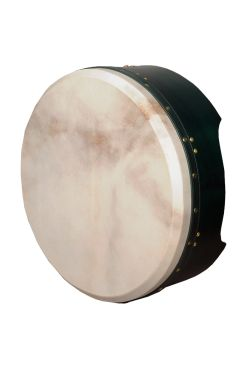 "16""x4"" Heartland Tunable Deep Rim Bodhran Mulberry Green T-Bar"