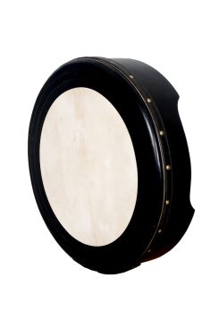 "16""x4"" Heartland Black Bodhran Non Tunable T-Bar Deep Tune"