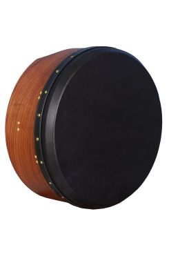 "16""x6"" Heartland Tunable Deep Rim Bodhran Rosewood T-Bar Black Skin"