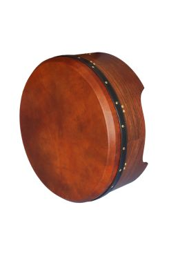 "16""X6"" Heartland Tunable Deep Rim Bodhran Rosewood T-Bar Brown Tan Goat Skin"