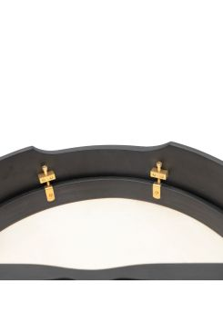 "18""x4"" Heartland Bodhran Black Tunable T-Bar Deep Tune"