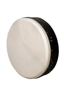 "18""x4"" Heartland Bodhran Black Tunable Single Bar"