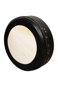 "18""x4"" Heartland Bodhran Black Tunable Single Bar Deep Tune"