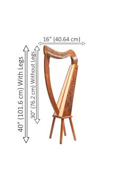19 String Trinity Harp Rosewood