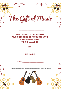 Blessington Music - Gift Voucher €50