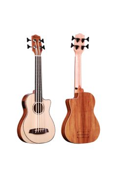Heartland Baritone Ukulele Bass Acacia With EQ
