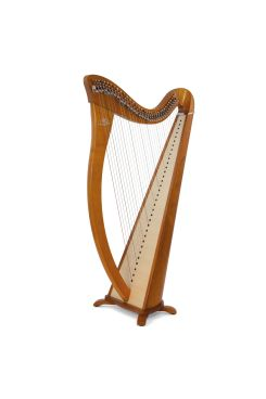 Camac Hermine Lever Harp, 34 Alliance Carbon Strings In Cherry