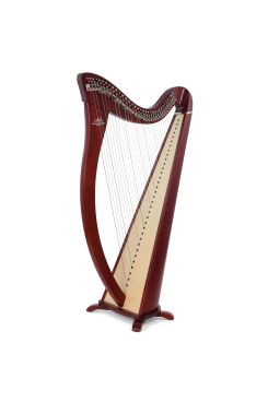 Camac Hermine Lever Harp, 34 Alliance Carbon Strings In Mahogany