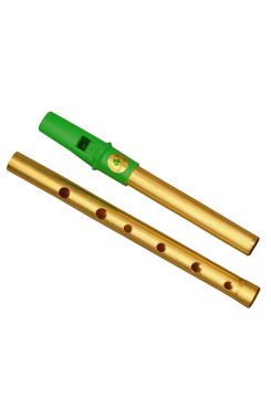Clare Irish Tin Whistle 2 Part in D Brass Green