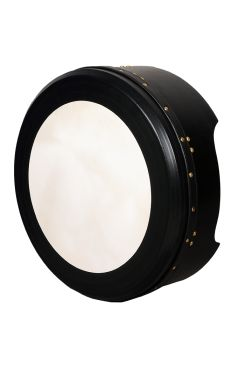 "14""x6"" Heartland Bodhran Deep Rim Tunable Black T-Bar Deep Tune"