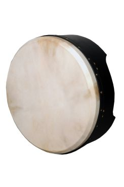 "16""x6"" Heartland Tunable Deep Rim Bodhran Black T-Bar"