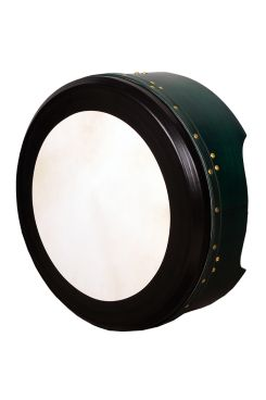 "16""x6"" Heartland Tunable Deep Rim Bodhran Green T-Bar Deep Tune"