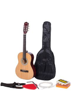 Heartland 3/4 Student Beginners Nylon Classic Guitar Pack Natural Finish