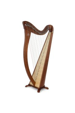 Camac Hermine Lever Harp, 34 Alliance Carbon Strings In Walnut