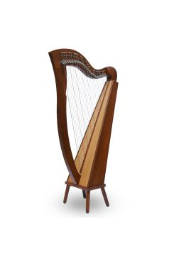 McHugh Harp 29 String In Rosewood Flatback Aquila Nylon Gut Strings