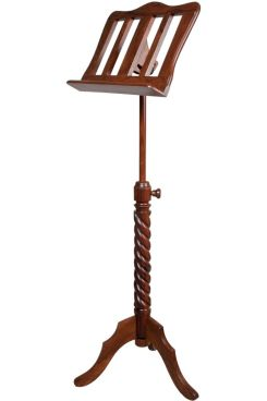 Muzikkon Single Tray Sprial Music Stand Rosewood