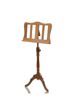 Muzikkon Single Tray Sprial Music Stand Walnut