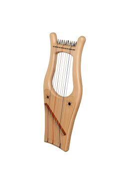 Mini Kinnor Harp, 10 String Lacewood
