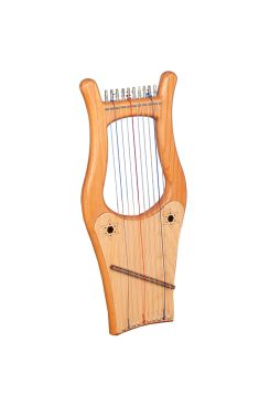 Muzikkon Mini Kinnor Harp, 10 Strings Red Ceader