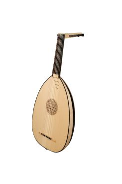 Muzikkon Renaissance Lute, 6 Course Variegated Maple Ebony